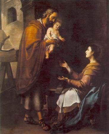 THE HOLY FAMILY 2,  a(n) Bartolome Esteban Murillo paintings