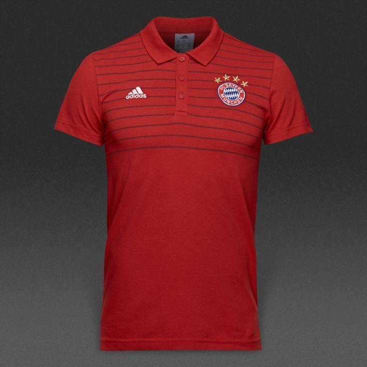 adidas Bayern Munich 16/17 Polo - True Red