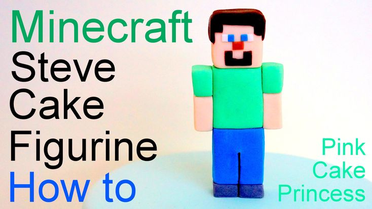 See how to make a Minecraft cake topper with this easy Minecraft Steve cake figurine tutorial. Perfect if you are having a Minecraft gaming kids birthday par...