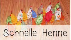 """Diese """"Schnelle Henne"""" ist der absolute Renner zur Osterzeit – und sie macht ihrem Namen wirklich alle Ehre, denn sie geht ganz fix und sieht immer wieder toll aus. Die Kostenlose Anleitung gibt's hier: http://kinderleichtundschoen.blogspot.de/2014/04/schnelle-henne.html"""