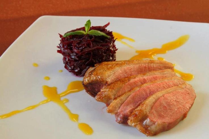 GUSTARE CALDA- Piept de rata la cuptor* Varza rosie dulce picanta