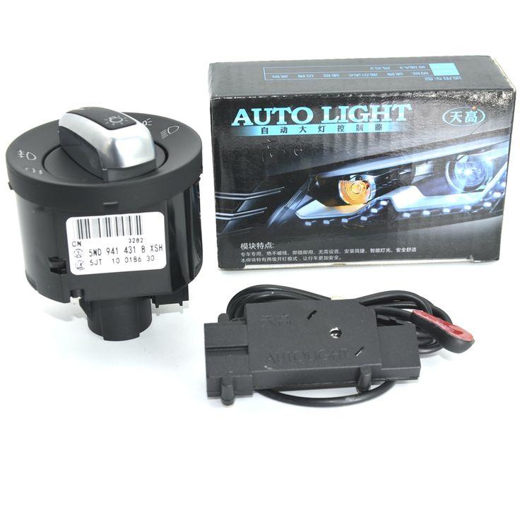 OEM Original Chrome Switch + Auto Headlight Sensor VW Passat B6 B7 Tiguan Golf MK6 VI Jetta MK5 5ND 941 431 B