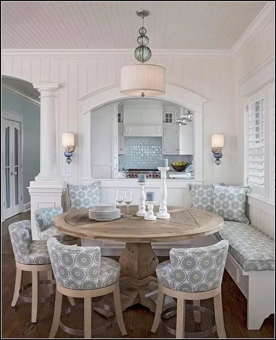 Dining Room Corner Decorating Ideas Space Saving Solutions: 173 Instant Solutions For Farmhouse Dinning Room- Page 13