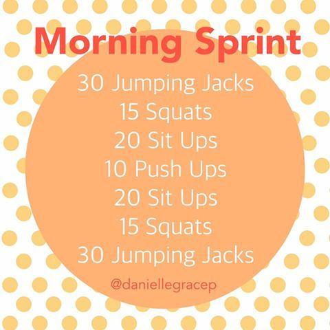 At Home Workout, Printable Workout