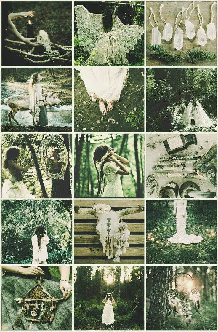 Boho Witches Series Ii  Forest Aesthetic