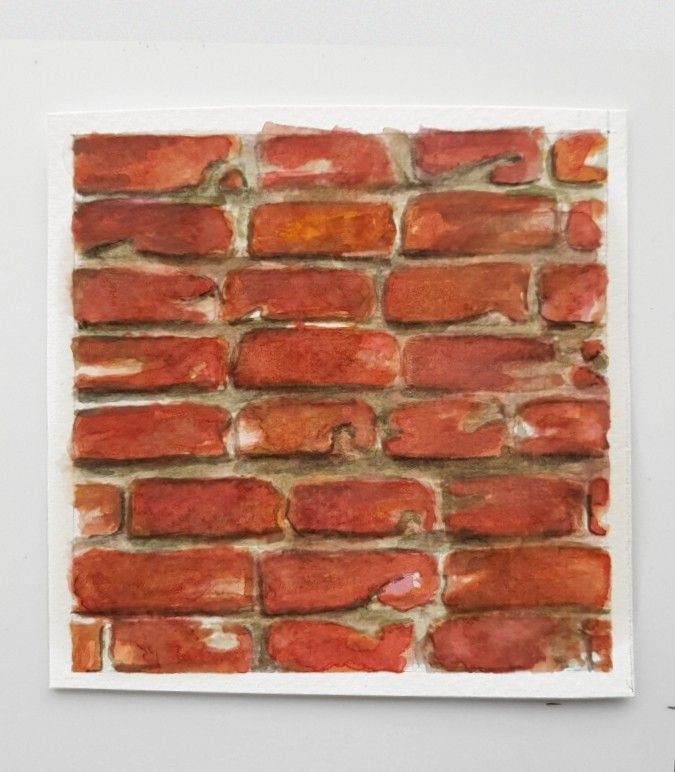 Brick Watercolor Rendering Brick Texture Brick Art Watercolor Texture