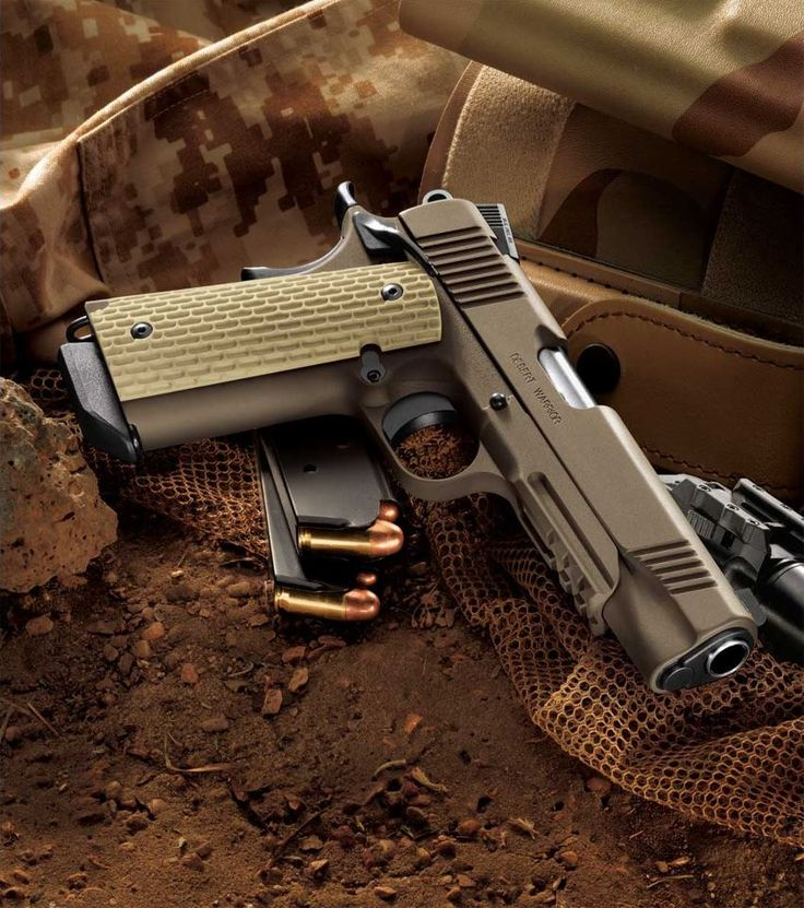 Kimber Desert Warrior 1911 semi-automatic pistol in .45 ACP (Automatic Colt Pistol)