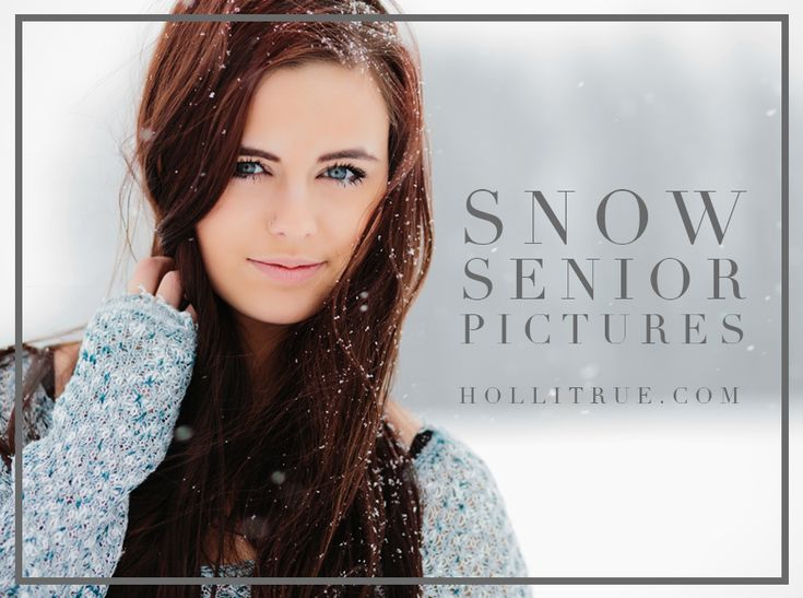 Senior pictures in the snow mini session promo with Eugene, Oregon senior photographer for the Young & Free, Holli True