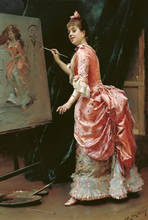 Raimundo de Madrazo Y Garreta (1841-1920) - Model making mischief