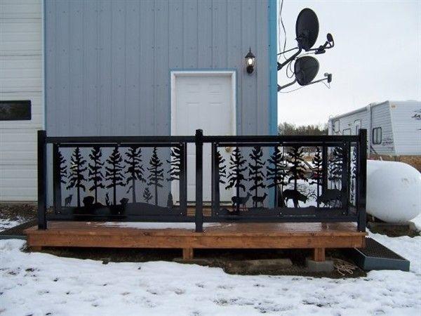 Deck Railing Panels Wildlife Deck Railings 5 Landscape