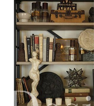 Shelf styling - classic w/modern touch by Cecilie Starin, SF Decorator Showcase