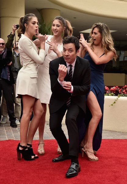 Jimmy Fallon Photos Photos - Miss Golden Globe 2017 Sophia Stallone, Sistine Stallone, host Jimmy Fallon and Scarlett Stallone attend the 74th Annual Golden Globes Preview Day at The Beverly Hilton Hotel on January 4, 2017 in Beverly Hills, California. - 74th Annual Golden Globe Awards Preview Day