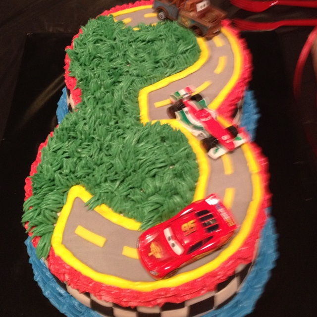 Cars 2 3rd Birthday Cake Party Ideas Pinterest