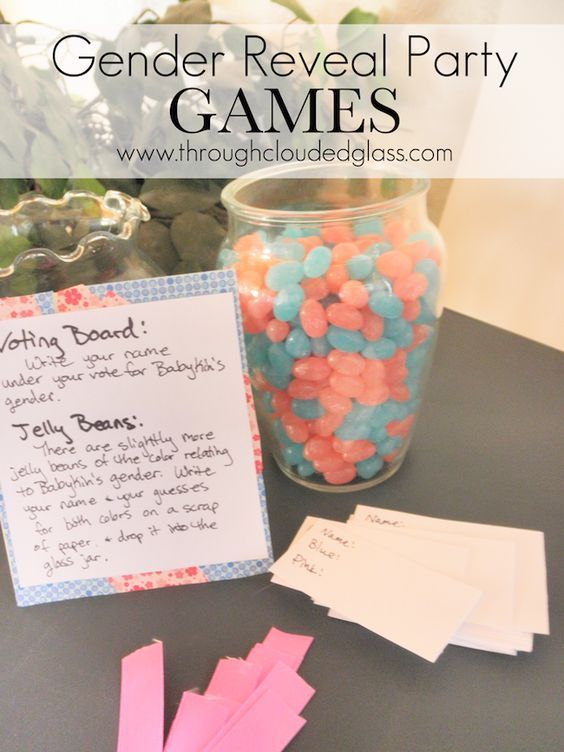 Gender Reveal Party Games   Through Clouded Glass