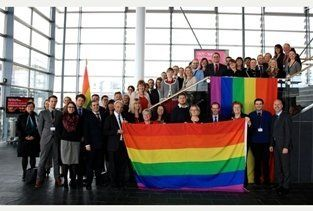 flag national assembly walesA Rainbow Flag Is Raised By The National Assembly For Wales To Celebrate The LGBT History Month #Wales #rainbow #flag #lgbt