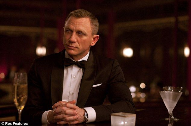 Shaken not stirred: Daniel as James Bond in Skyfall, 2012