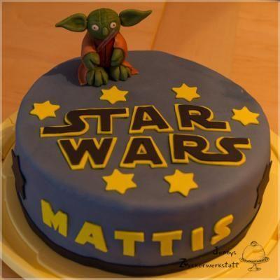 Star Wars Torte - Zitronenkuchen mit Lemon Curd gefüllt