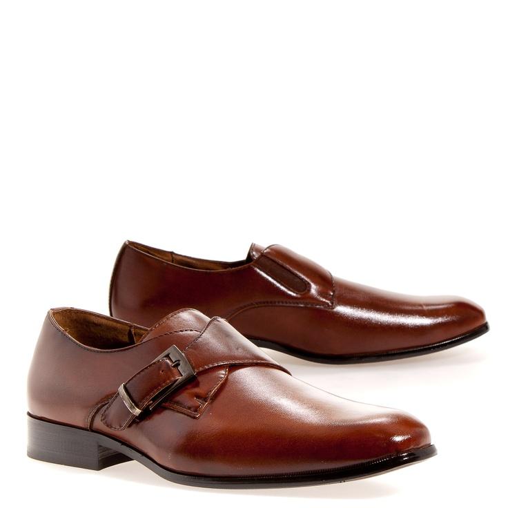 Delli Aldo Monk Strap Men's Oxford Shoes: Brown 9.5