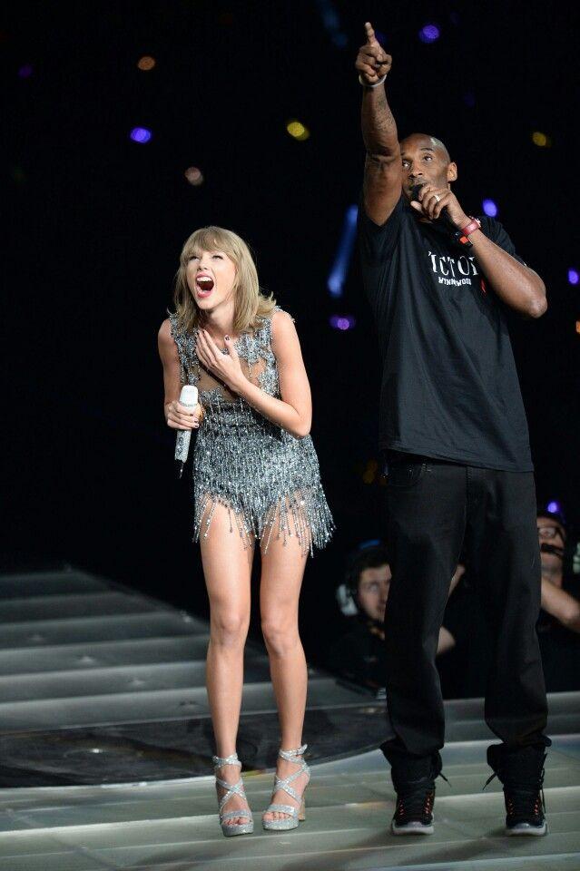Taylor performed with Kobe brayant at LA night 1
