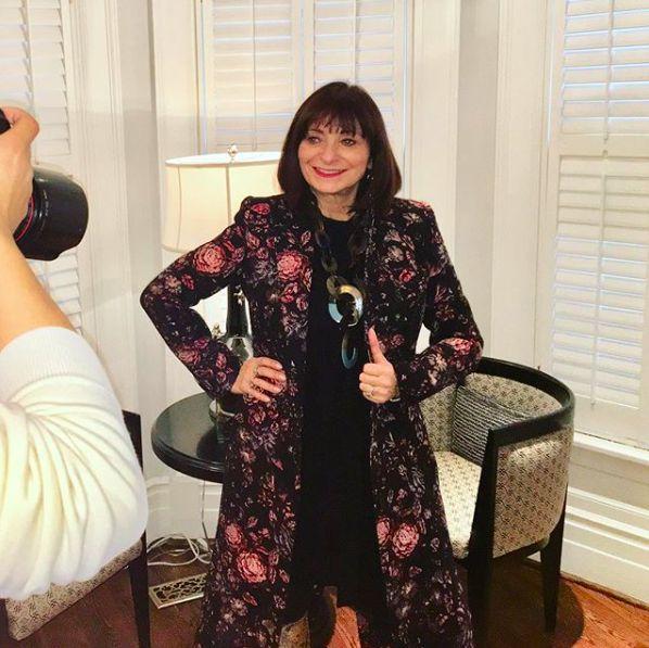 Milli Muse. Jeanne Beker in a floral Smythe jacket, available at Milli #milli #smythe #jeannebeker