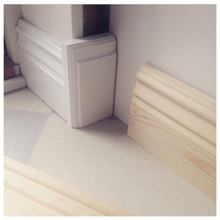 13 cm hög golvlist i gammaldags stuk - Tillverkade av Krokstorps Såg   #golvlist #trä #list #lister #golv #träprodukt #skirting #skirtingboard