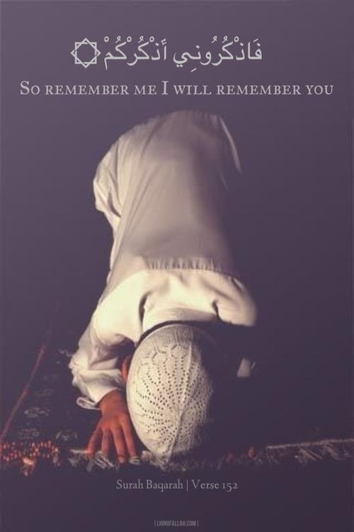 So remember Me, I will remember you (Al - Baqarah : 152)
