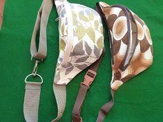 Hip bags - tutorial . Blog post is in Polish (Fanny Pack / Bumbbag / Bum Bag / Hip Pouch) Pattern, Tutorial & How To http://kom-bi-na-tor-nia.blogspot.co.uk/2013/01/tak-powstay-nerki.html