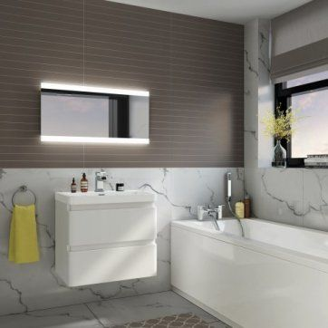 400x800mm Aurora Illuminated LED Mirror [PT-ML5002] - £214.99 : Platinum Taps & Bathrooms