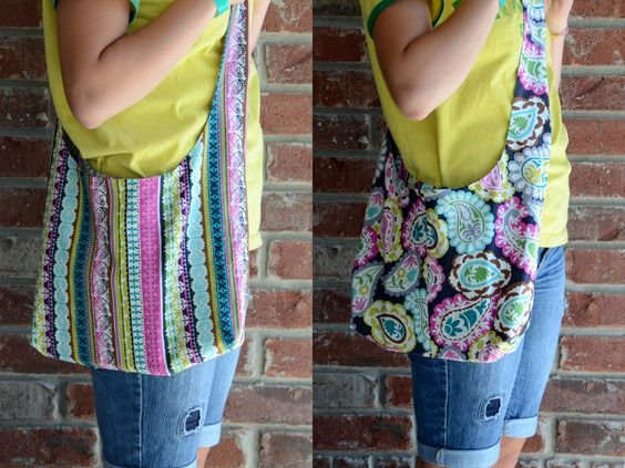 Need to get back into sewing!  A simple reversible bag that uses 1 yd each of two fabrics.