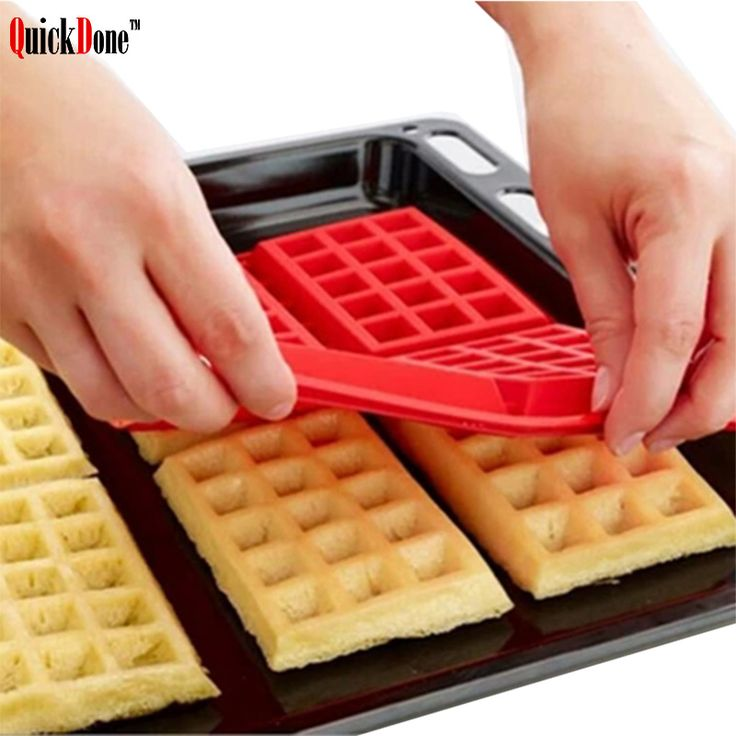 QuickDone 4-Cavity Silicone Waffle Mold Cookie Cake Chocolate Pan Nonstick Baking Mould Kitchen Bakeware Decorating AKC6046 #Affiliate