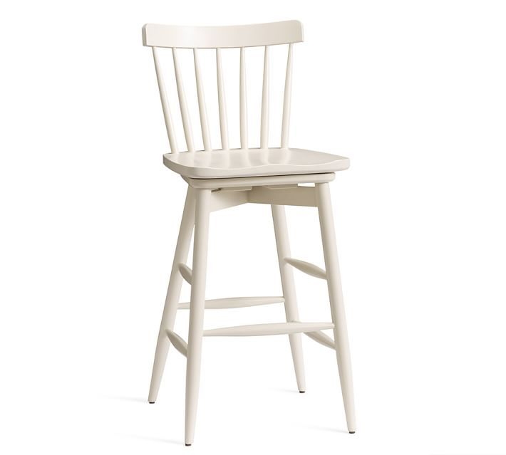 Pottery Barn Tilden Spindle Back Swivel Barstool Kitchen