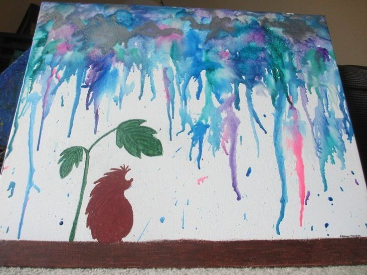 Melting Crayons in the Sun gif - PandaWhale