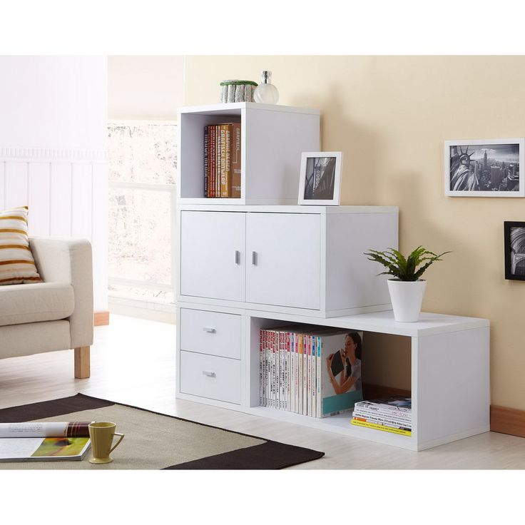 play room   Allure Modular Storage Cabinet in White (Set of 4 )   Overstock.com