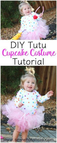 DIY Tutu and Cupcake Costume   www.sewwhatalicia.com