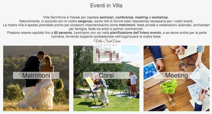 Stai organizzando un #meeting, un #workshop o...il tuo #matrimonio ? Vieni a Villa Sant'Anna, dove un ambiente meraviglioso ed uno staff preparato sapranno rendere il tuo #evento indimenticabile !! CLICCA QUI: http://www.santannavillatoscana.com/home_it.asp?sezione=2 #agriturismo   #italia   #italy   #sassetta   #tuscany   #toscana
