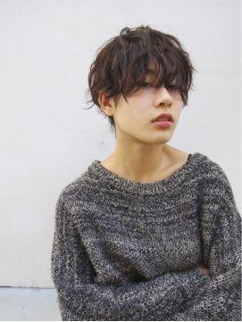 ナヌーク 渋谷店(nanuk)【nanuk】顔周りを残したアンニュイショート × クセ感パーマ
