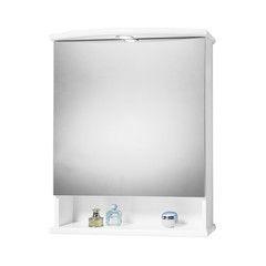 Bagno-Armadietto a specchio Katia L 62 x H 77 x P  23 cm bianco lucido-35615391