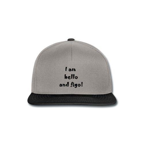 Snapback Cap  16,49 € #chepakko #design #sayitwithatshirt  #italian #word #sayng #citazioni #bellofigo #cool #fashion  #funny  #idea #snapback #cap #unisex #lookvintage #baseball #gray #black