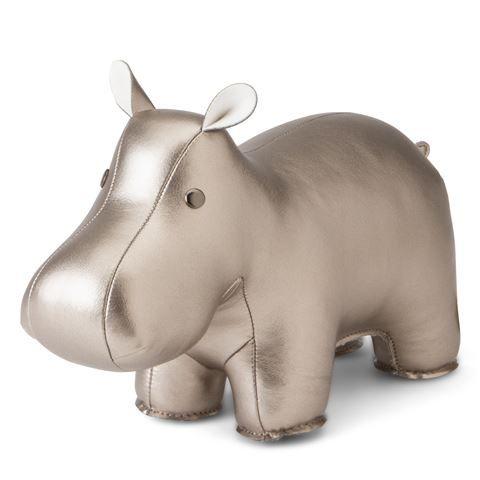 Zuny - Classic Chrome Hippo Bookend #dyr flodhest bokstøtte