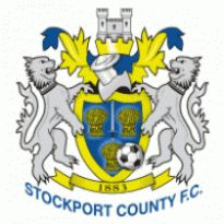 Stockport County FC Logo. Get this logo in Vector format from http://logovectors.net/stockport-county-fc-1/