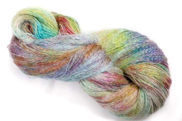 *夢紡ぎ* 手染め糸 c-2 シルク45 リネン55 251g かぎ針編み 棒針編み 手織り 絹麻_画像1