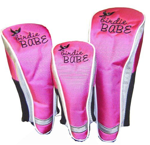 Best Golf Bags | Birdie Babe Golf Club Head Covers for Women Hot Pink Set of 3 * Click on the image for additional details. Note:It is Affiliate Link to Amazon.