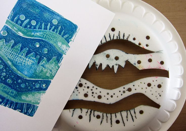 Printing with Gelli Arts®: Gelli™ Printing with Styrofoam Plates: