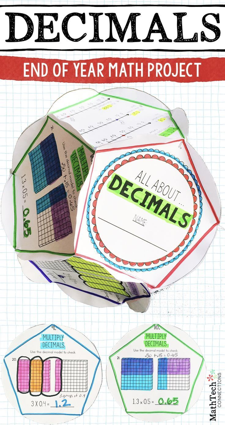 Review Decimals With This Fun Dodecahedron Project This Activity Is Perfect To Complete As A Fun End Of Unit Assessment Math Projects Education Math Decimals [ 1390 x 736 Pixel ]