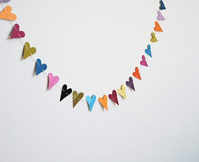 Monday's Make-it … { Heart Garland with wall paint swatches } | Ada's Interior Design