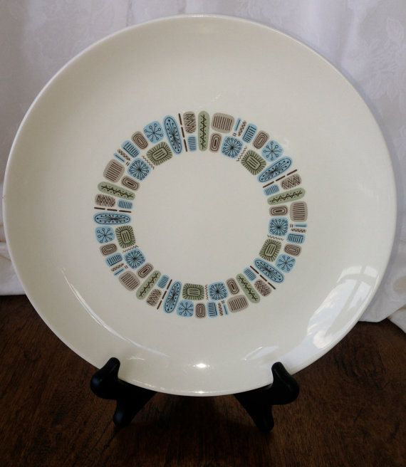 Atomic midcentury dinner plate by ScrappierSisters on Etsy, $10.00