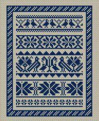 Hungarian folk art cross stitch sampler