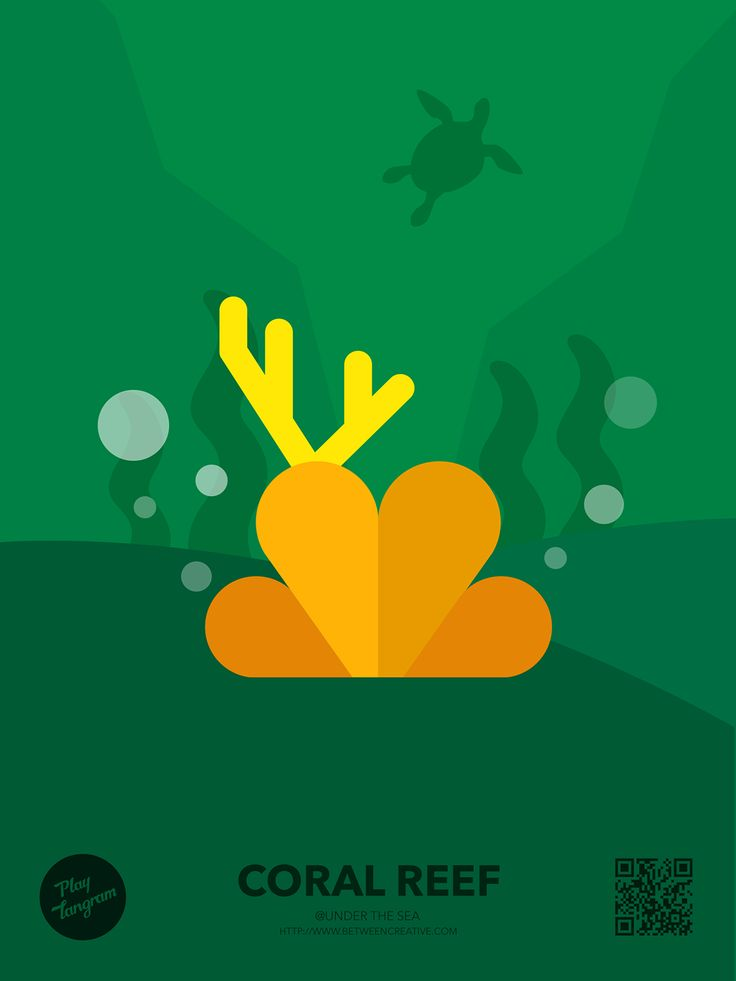 Marine organism Education puzzle_Coral reef #PlayTangram #Colorful #Modern #Minimal #Puzzle #Learning #Flat #ios #iphone #Nature #Children
