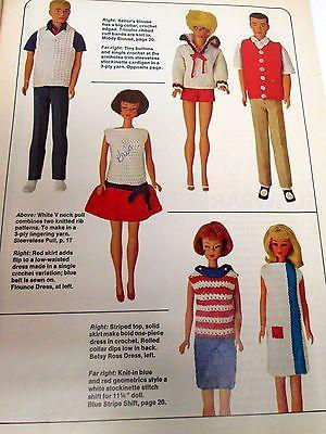 Vintage-Barbie-Ken-Fashion-Doll-Clothing-Accessories-Pattern-Sew-Knit-Crochet