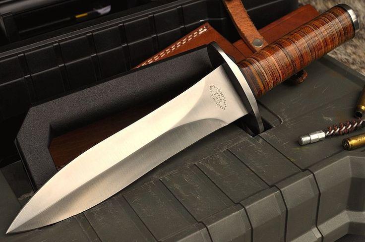 "CFK USA Handmade Custom 1/4"" D2 Vietnam Era Combat Scout Recon Fairbairn Knife #CFKCutleryCo"